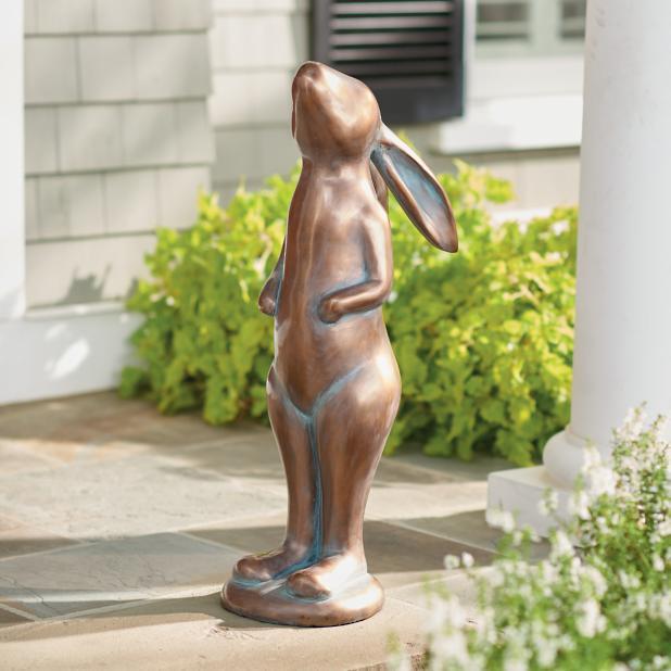 decortive ester ccents easter rabbit decor bunny.htm copper garden bunnies grandin road  copper garden bunnies grandin road