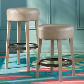 Iris Apfel Backless Bar & Counter Stool with