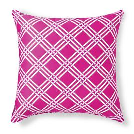 Mila Clio/Pink Outdoor Pillow