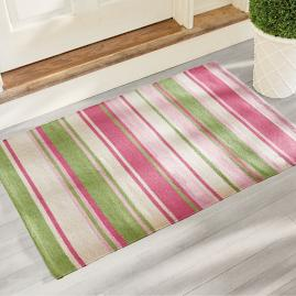 Alden Stripe Door Mat and Outdoor Rug