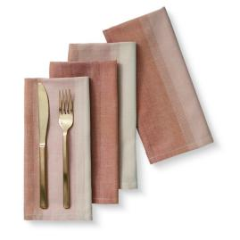Ombre Napkin s/4 Dusty Rose