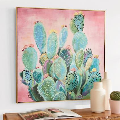 Blooming Cactus Wall Art | Grandin Road