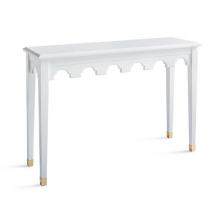 Brynn Scalloped Console Table