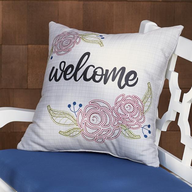 Welcome Outdoor Pillow Grandin Road