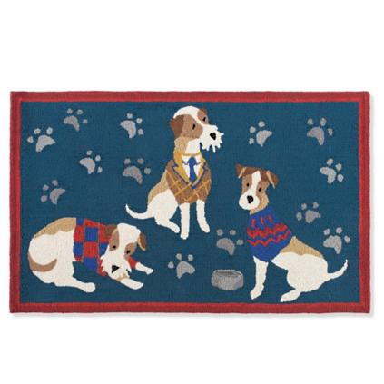 Dogs In Sweaters Pet Door Mat