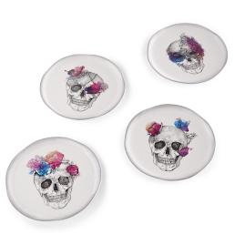 Brushstroke Floral and Watercolor Skull Dinnerware Collection