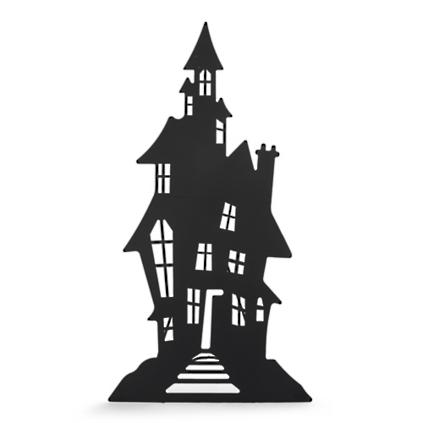 Halloween Haunted House And Spooky Tree Silhouettes