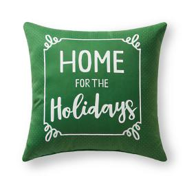 """Home For The Holidays"" Outdoor Pillow"