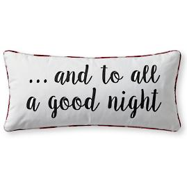 """To All a Good Night"" Pillow"
