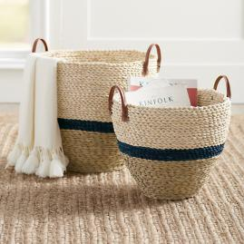 Drexel Woven Basket, Set of Two