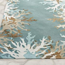 Coral Border Outdoor Rug
