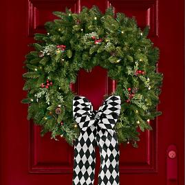 Madison Fraser Cordless Wreath - Doorbuster