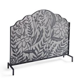 Botanical Fire Screen & Tool Set