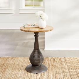 Hunter Carved Accent Table - Brown