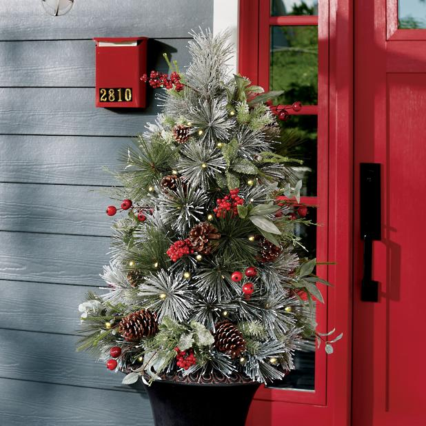 Christmas Tree Fillers.First Frost Cordless Tree Urn Filler