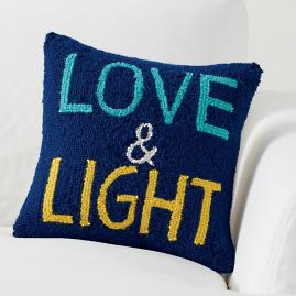 Hanukkah Pillow, Love and Light