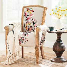 Celeste Embroidered Armchair