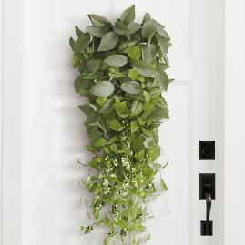 Lush Leaves Door Swag