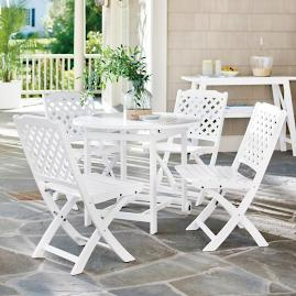 Carolina Folding Chairs and Table, Five-Piece Set