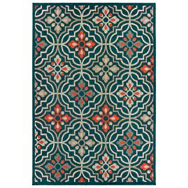 Arwen Blue Floral Outdoor Rug
