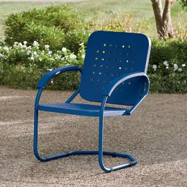 Retro Squares Metal Spring Chair