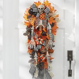 Halloween Skeleton Door Swag