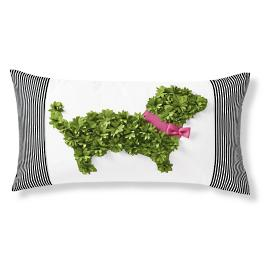 Dachshund Topiary Outdoor Pillow