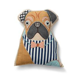 Bulldog Dog Shaped Pillow