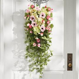 Pink Blooming Blossom Door Swag