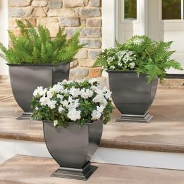 Stainless Steel Footed Planter