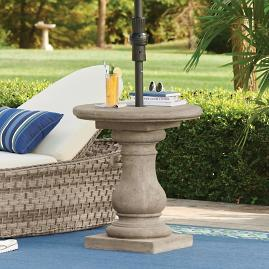 Elle Baluster Umbrella Table