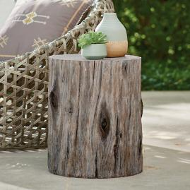 Faux Bois Garden Stool, Old Oak
