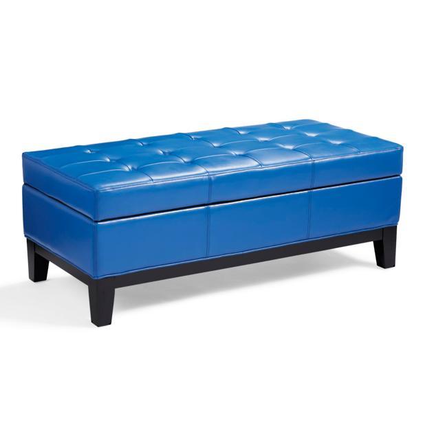Astonishing Lauren Leather Storage Ottoman In Baltic Blue Grandin Road Ncnpc Chair Design For Home Ncnpcorg