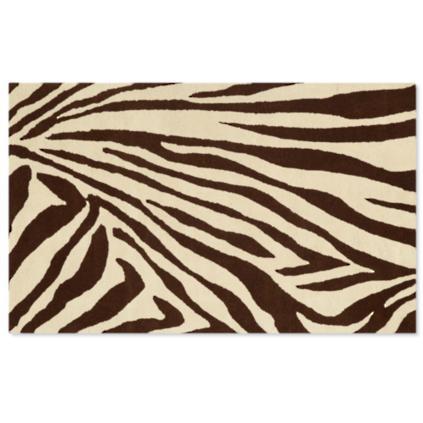 Brown And Cream Zebra Rug