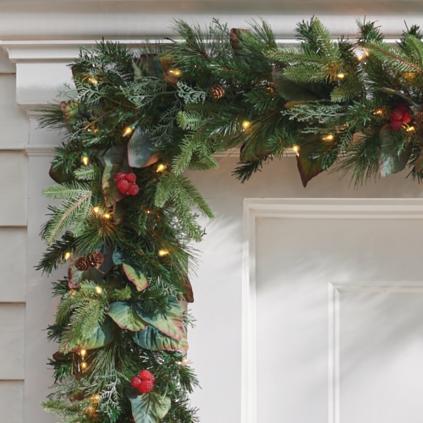 pre lit woodland christmas garland - Christmas Greenery