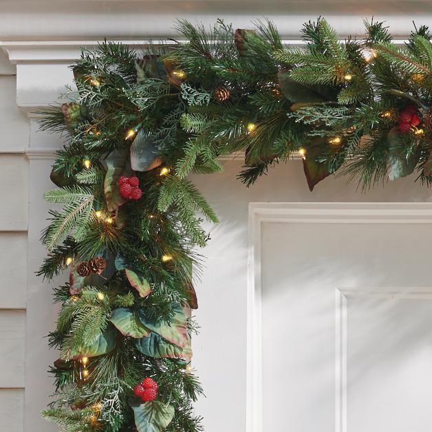 Pre Lit Woodland Christmas Garland