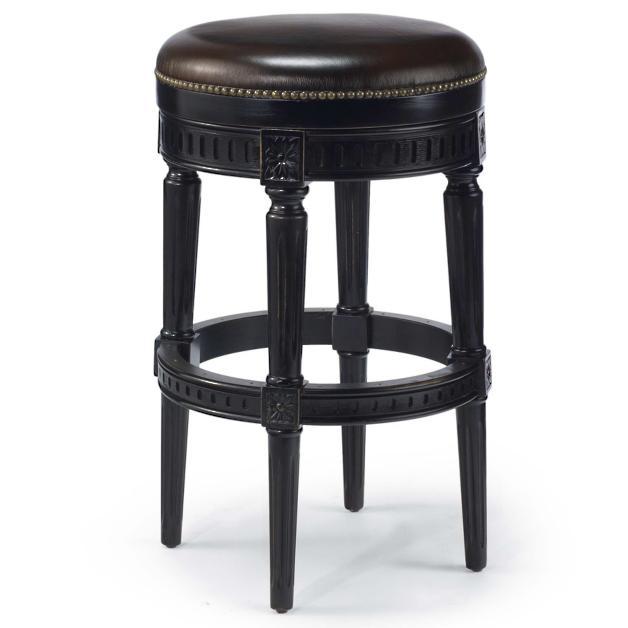 Manchester Swivel Bar Height Backless Bar Stool 30h Seat