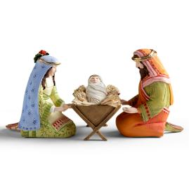 Set of Four Holy Family Nativity Figures