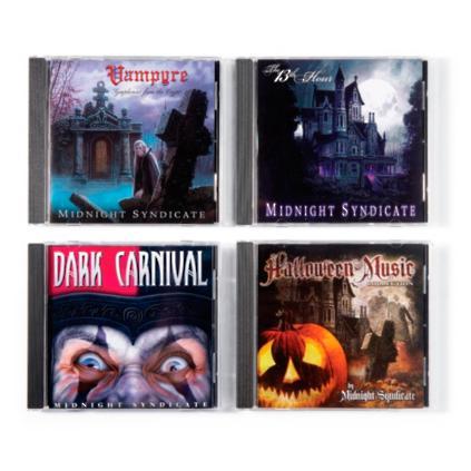 set of four halloween music cds