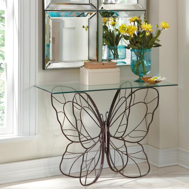promo code f253a 29033 Monarch Butterfly Console Table | Grandin Road
