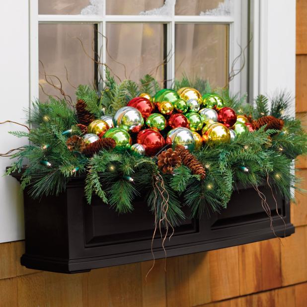 Martha Stewart Battery Operated Christmas Ornament Window