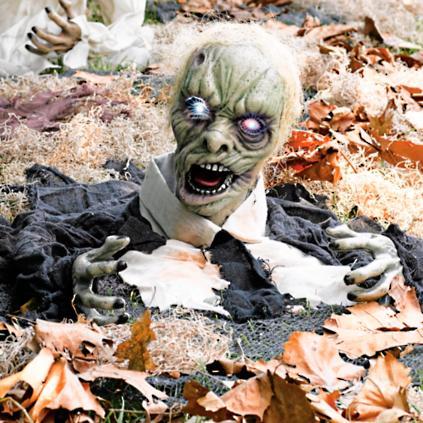 larry the zombie animated halloween prop