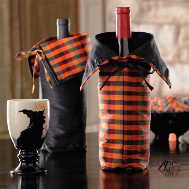 Set of Two Halloween Wine Bags   Grandin Road bbeca02462