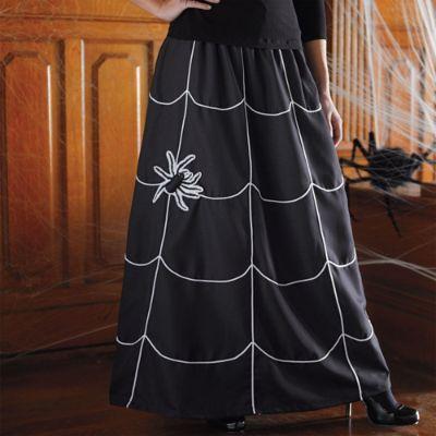 Martha Stewart Halloween Spider Skirt Grandin Road