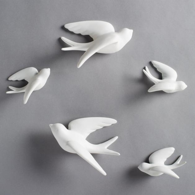 set of five birds of flight wall art grandin road
