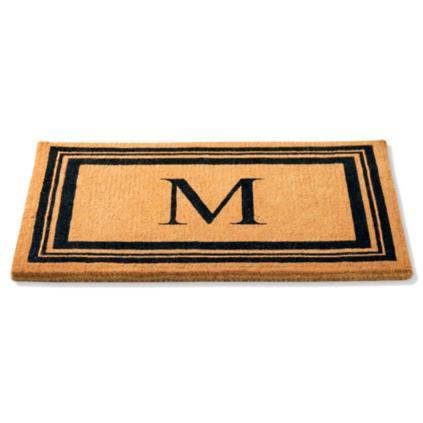 Exceptionnel Monogrammed Coco Border Door Mat