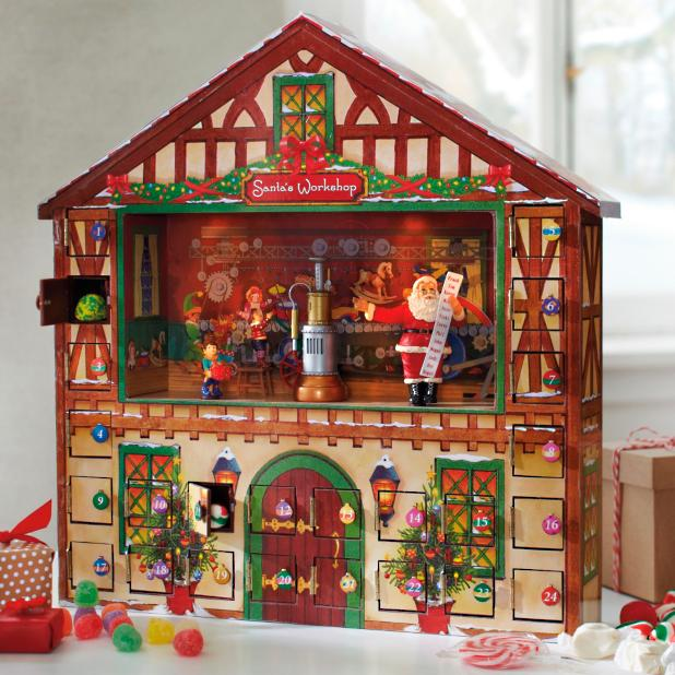 Christmas Advent House.Animated Advent House Grandin Road