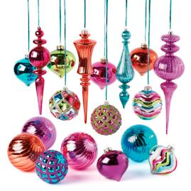 Jeweled Romance 18-pc. Ornament Collection