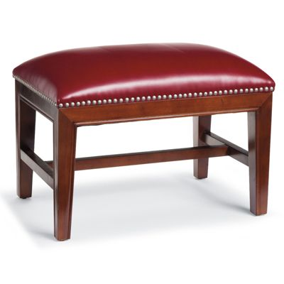 Harriet Leather Ottoman Grandin Road