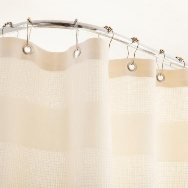 Egyptian Cotton Waffle Shower Curtain